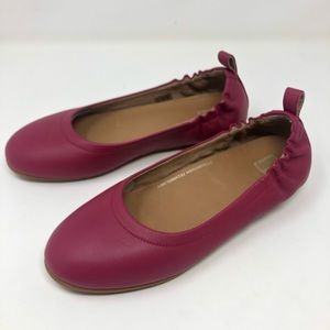 Fitflop allegro flats 7.5 magenta pink leather 738